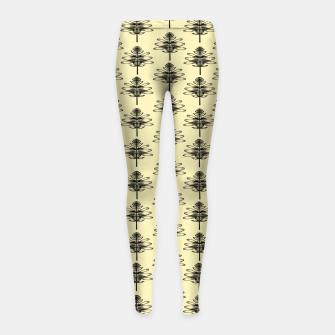 Spring black Flowers  Leggings para niña thumbnail image