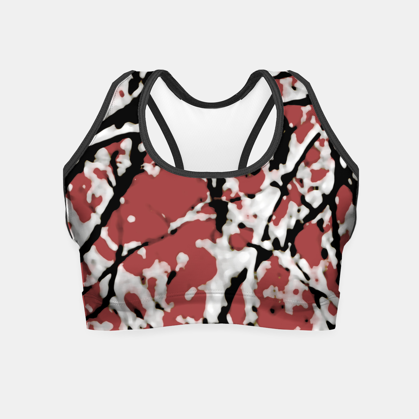 Image of Vibrant Abstract Textured Artwork Crop Top - Live Heroes