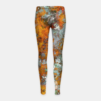 Leaves in the water Girl's leggings thumbnail image