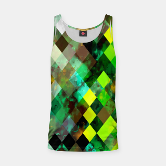 Imagen en miniatura de geometric square pixel pattern abstract background in green yellow brown Tank Top, Live Heroes