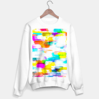 Imagen en miniatura de colorful splash painting texture abstract background in yellow blue pink orange Sweater regular, Live Heroes