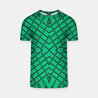 geometric symmetry line pattern abstract in green T-shirt thumbnail image