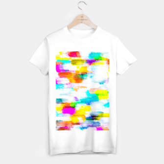 Imagen en miniatura de colorful splash painting texture abstract background in yellow blue pink orange T-shirt regular, Live Heroes