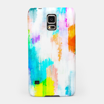 colorful splash painting texture abstract background in yellow blue pink orange Samsung Case thumbnail image
