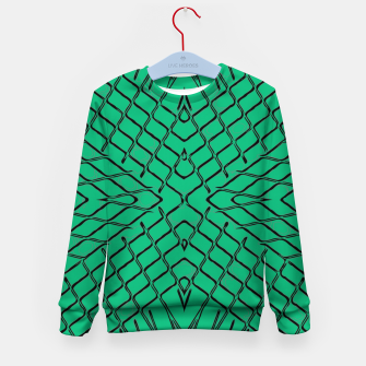 Imagen en miniatura de geometric symmetry line pattern abstract in green Kid's sweater, Live Heroes