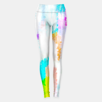 Thumbnail image of colorful splash painting texture abstract background in yellow blue pink orange Leggings, Live Heroes