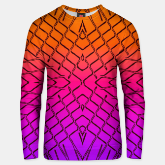 geometric symmetry line pattern abstract in orange purple pink Unisex sweater thumbnail image