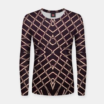 geometric symmetry line pattern abstract in brown Women sweater thumbnail image