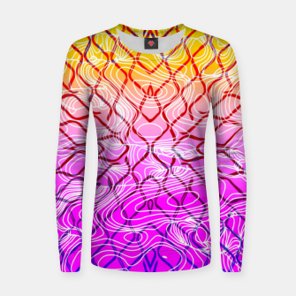 geometric symmetry line pattern abstract in purple pink orange yellow Women sweater thumbnail image