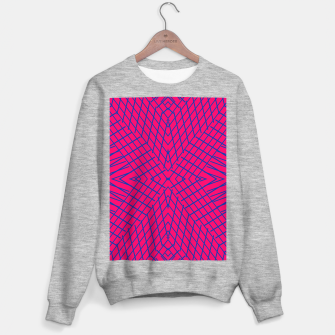 geometric symmetry line pattern abstract in pink and blue Sweater regular thumbnail image