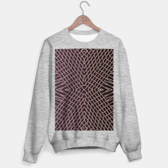 geometric symmetry line pattern abstract in brown Sweater regular thumbnail image