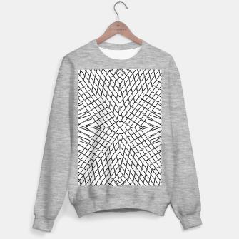 geometric symmetry line pattern abstract in black and white Sweater regular thumbnail image