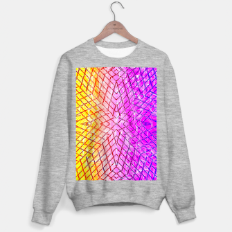 geometric symmetry line pattern abstract in purple pink orange yellow Sweater regular thumbnail image