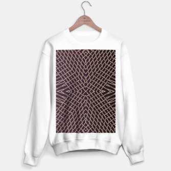 Thumbnail image of geometric symmetry line pattern abstract in brown Sweater regular, Live Heroes