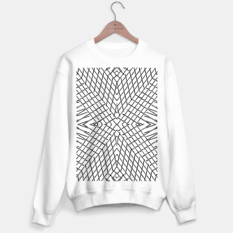 Miniatur geometric symmetry line pattern abstract in black and white Sweater regular, Live Heroes