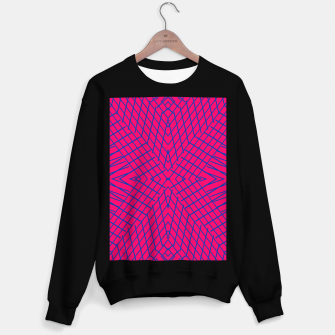 Miniatur geometric symmetry line pattern abstract in pink and blue Sweater regular, Live Heroes