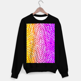 Thumbnail image of geometric symmetry line pattern abstract in purple pink orange yellow Sweater regular, Live Heroes