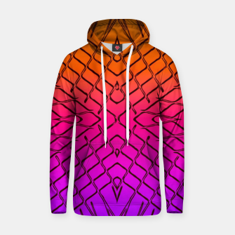geometric symmetry line pattern abstract in orange purple pink Hoodie thumbnail image