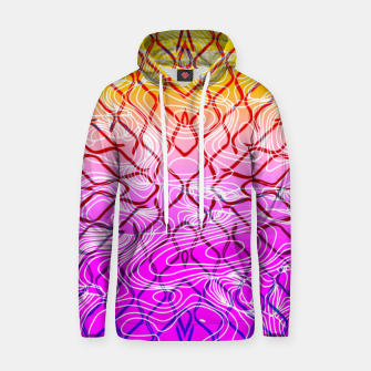 geometric symmetry line pattern abstract in purple pink orange yellow Hoodie thumbnail image