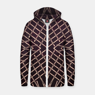 geometric symmetry line pattern abstract in brown Zip up hoodie thumbnail image