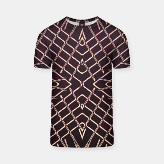 geometric symmetry line pattern abstract in brown T-shirt thumbnail image