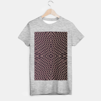 geometric symmetry line pattern abstract in brown T-shirt regular thumbnail image