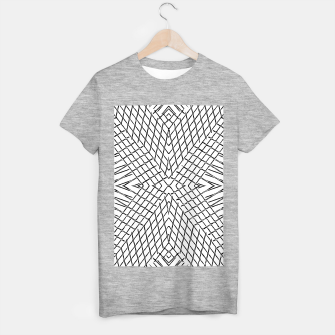 geometric symmetry line pattern abstract in black and white T-shirt regular thumbnail image