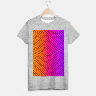 geometric symmetry line pattern abstract in orange purple pink T-shirt regular thumbnail image