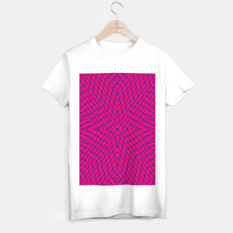 Miniature de image de geometric symmetry line pattern abstract in pink and blue T-shirt regular, Live Heroes