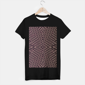 Thumbnail image of geometric symmetry line pattern abstract in brown T-shirt regular, Live Heroes