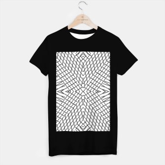 Miniature de image de geometric symmetry line pattern abstract in black and white T-shirt regular, Live Heroes