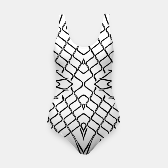 Miniature de image de geometric symmetry line pattern abstract in black and white Swimsuit, Live Heroes