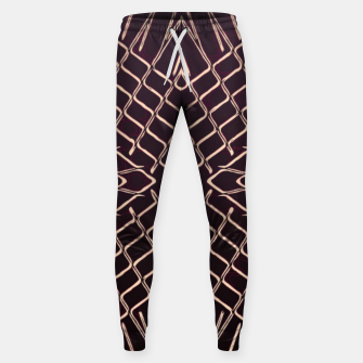 geometric symmetry line pattern abstract in brown Sweatpants thumbnail image