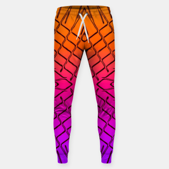 geometric symmetry line pattern abstract in orange purple pink Sweatpants thumbnail image