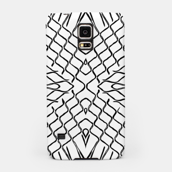 Miniatur geometric symmetry line pattern abstract in black and white Samsung Case, Live Heroes