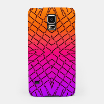 geometric symmetry line pattern abstract in orange purple pink Samsung Case thumbnail image