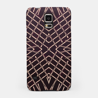 geometric symmetry line pattern abstract in brown Samsung Case thumbnail image