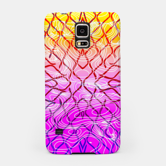 geometric symmetry line pattern abstract in purple pink orange yellow Samsung Case thumbnail image