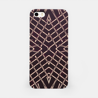 Imagen en miniatura de geometric symmetry line pattern abstract in brown iPhone Case, Live Heroes