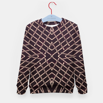 geometric symmetry line pattern abstract in brown Kid's sweater thumbnail image