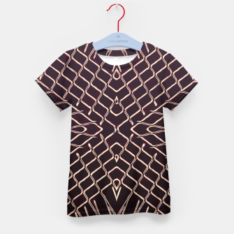 geometric symmetry line pattern abstract in brown Kid's t-shirt thumbnail image