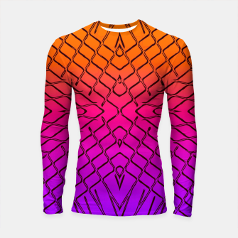 geometric symmetry line pattern abstract in orange purple pink Longsleeve rashguard  thumbnail image