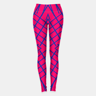 Miniaturka geometric symmetry line pattern abstract in pink and blue Leggings, Live Heroes