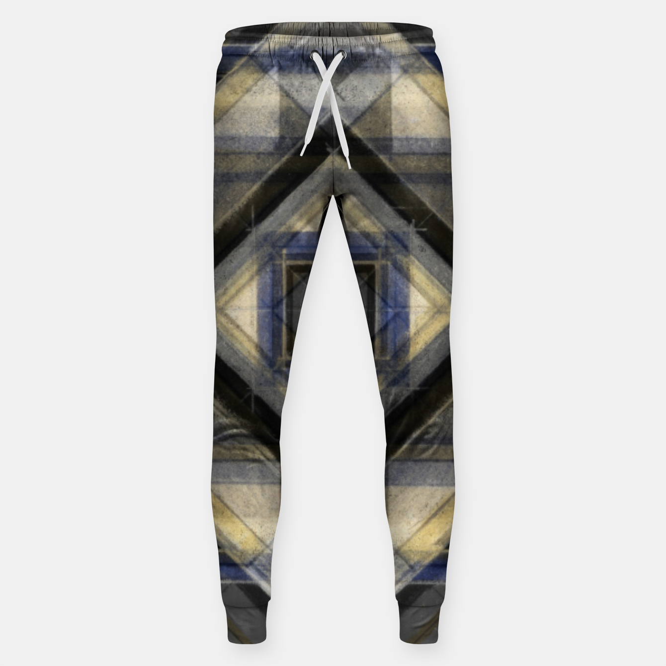 Image of Hand Made Edited Pencil Geometry in Grey Sweatpants - Live Heroes