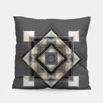 Thumbnail image of Hand Made Edited Pencil Geometry in Grey Pillow, Live Heroes