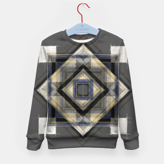 Imagen en miniatura de Hand Made Edited Pencil Geometry in Grey Kid's sweater, Live Heroes
