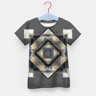 Thumbnail image of Hand Made Edited Pencil Geometry in Grey Kid's t-shirt, Live Heroes