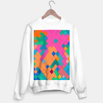 Imagen en miniatura de geometric square pixel pattern abstract in pink orange green Sweater regular, Live Heroes