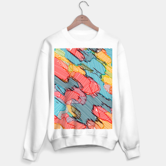 Miniaturka fractal geometric line abstract background in red yellow blue Sweater regular, Live Heroes