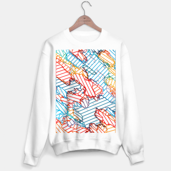 Miniaturka fractal geometric line abstract background in red blue yellow Sweater regular, Live Heroes